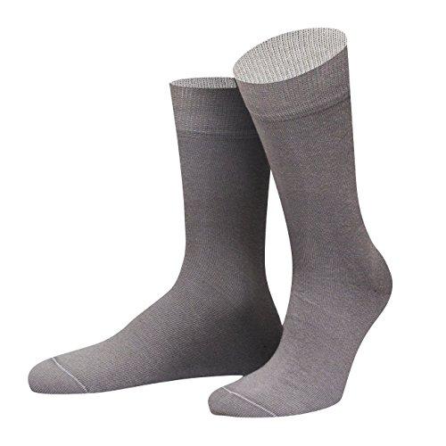 von Jungfeld - Herren Socken/Strumpf Herrensocken Baumwolle 1 Paar 39-41 grau