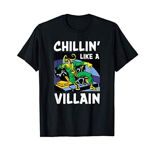 Marvel Loki Chillin' Like a Villain Maglietta
