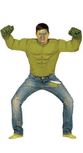 Disfraz de camisa de músculo increíble Hulk verde monstruo