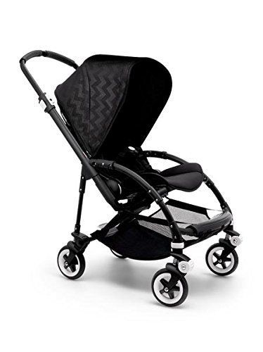 Find Discount Bugaboo Bee 3 Shiney Chevron Black Special Edition Stroller (Black Frame)
