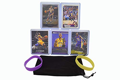 Kobe Bryant (5) Assorted Basketball Cards Bundle - Los Angeles Lakers Trading Cards - MVP # 24