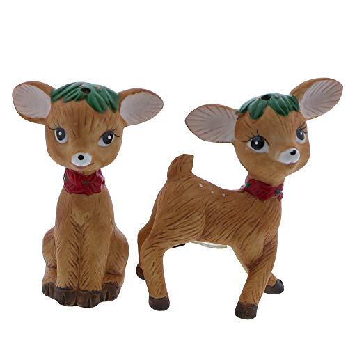 Christmas Holiday Salt and Pepper Shaker Sets Novelty Gift - Reindeer