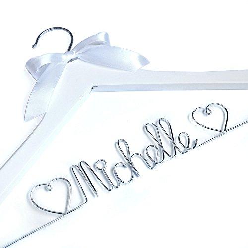LOVEhandmade Wedding Hanger Personalized Wedding HangerWire Wrapped Hanger Bride Gift Bride Hanger