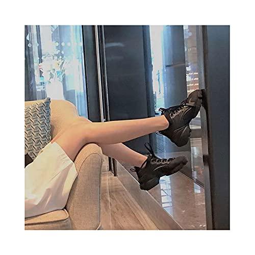 Calzado de Mujer Zapatillas Deportivas Running Hombre Zapatillas Deportivas Ligeras,Black-36 EU