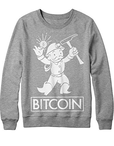 HYPSHRT Herren Sweatshirt Cryptocurrency Bitcoin Miner H000019 Grau L