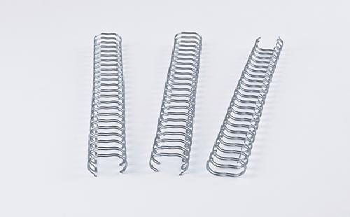 Renz One Pitch Drahtkamm-Bindeelemente in 2:1 Teilung, 23 Schlaufen, Durchmesser 9.5 mm, 3/8 Zoll, silber/glänzend