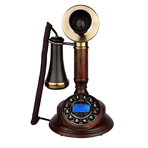 YANGYUAN Teléfono Antiguo Retro de Escritorio pasada de Moda Llamada con Cable Teléfono con Cable Antiguo Europeo de línea Fija de Apoyo de Manos Libres, for el hogar decoración de la Oficina, con la