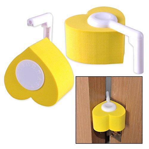 Itian 2 stuks baby kinderen proof veiligheid vinger pinch scharnier en deur beschermer (geel)