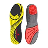 Sorbothane Double Strike Insoles - Red/Grey, Size 9 EU 43