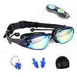Macllar Gafas Natacion unisex, Gafas de natación ajustables con...