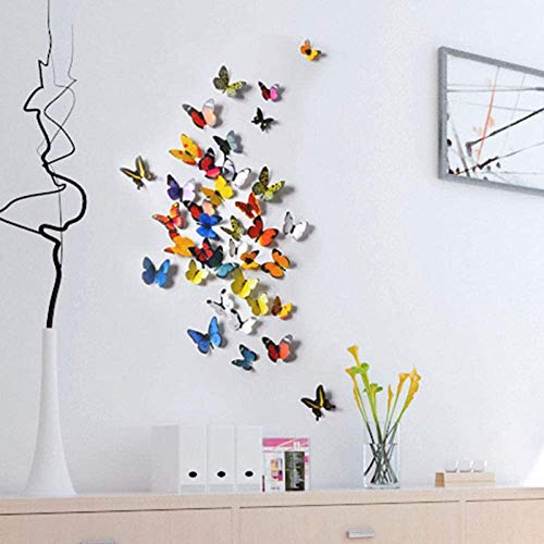 Butterfly Wall 3D Sticker, Three-Dimensional self-Adhesive Waterproof Sticker, 30 Pieces for Home DYI, Baby, Sitting Room Decor (H1-007)