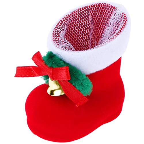 HehiFRlark - Calcetines de Navidad con colgante decorativo para botas de caramelos, bolsa de regalo