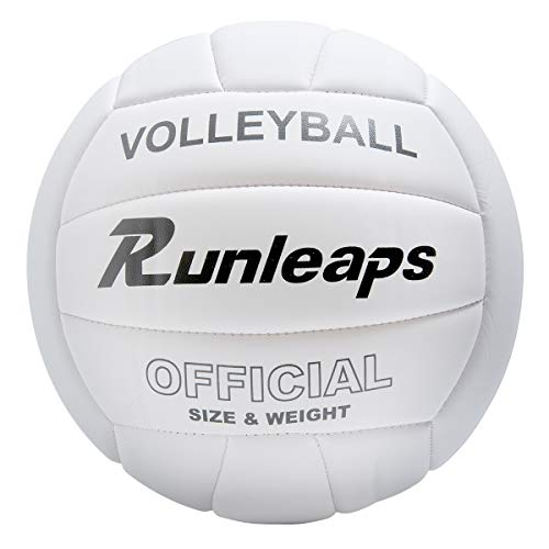 Runleaps Volleyball, Beachvolleyball Weicher Touch Volley Ball Training für Beach Outdoor Indoor Spiel, Größe 5