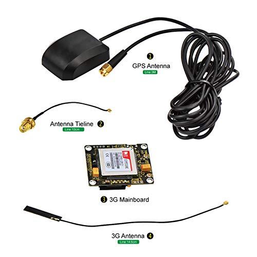 Bobury NEO-6M M/ódulo GPS EEPROM Compatible para el CMM//AeroQuad Antena Compatible para Arduino Control de Vuelo de aeronaves