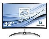 Philips 328E8QJAB5 Gaming Monitor LCD VA da 31,5 pollici, Full HD curvo, HDMI (digitale, HDCP) , Display Port, VGA (analogico), Audio Integrato, Nero