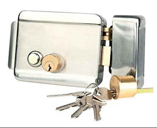 Secureye S-100EL Key Electronic Lock with push button (Polished Finish)