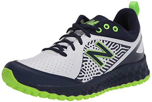 New Balance Women's Fresh Foam Velo V2 Turf Softball Shoe, Darker Royal/Lime Green/Black, 8.5