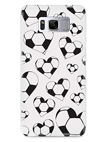 Inspired Cases - 3D Textured Galaxy S8 Case - Rubber Bumper Cover - Protective Phone Case for Samsung Galaxy S8 - Soccer Heart Pattern
