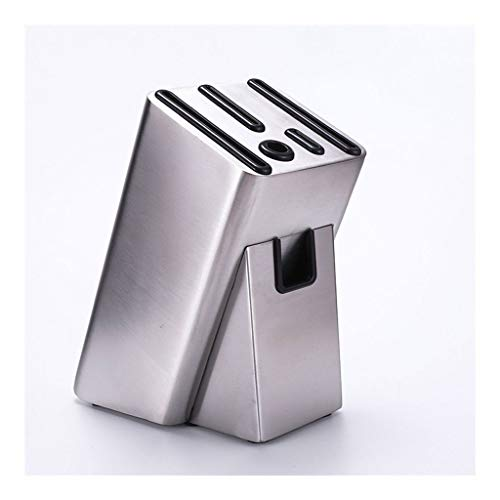 6 Slots Empty Knife Holder Block for Kitchen Restaurant Bar, Stainless Steel Box Storage Organizer Home Tools & Home Improvement 0806