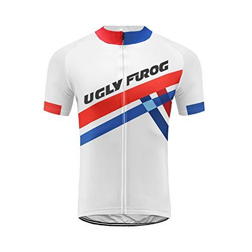 Uglyfrog Verano Hombre Cycling Jersey Maillot Ciclismo Mangas Cortas Camiseta de Ciclistas Ropa Ciclismo DXMX07