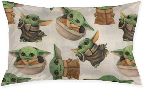 HevenJx Baby Yoda Pillowcases Cushion Novelty Zippered Breathable Rectangular Throw Pillow Covers product image