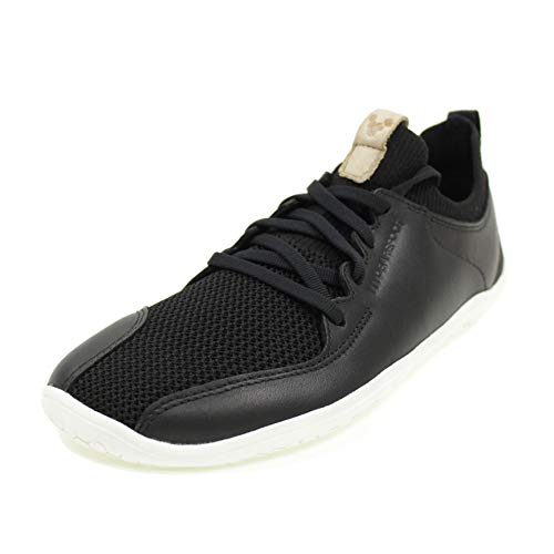 Vivobarefoot Womens Primus Knit Leather Synthetic Black Trainers 8 US