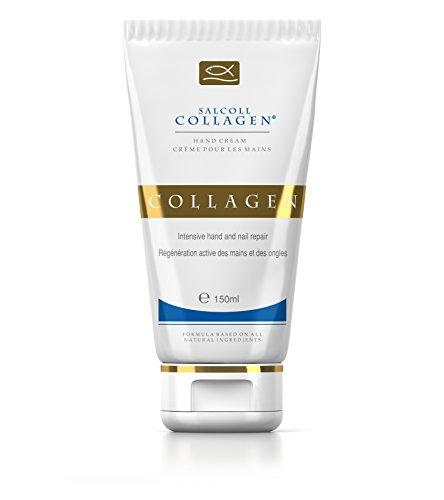 Salcoll Collagen - Pure Bioactive Anti-Aging Collagen Repair Hand Cream - Hypoallergenic Moisturizing Lotion, Dry Skin Relief, All Skin Types, 150 ml