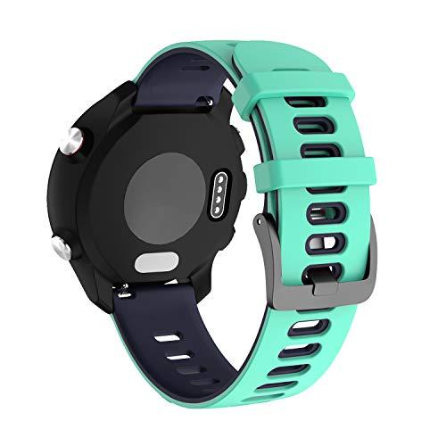 NotoCity Correa para Garmin Vivoactive 3/Forerunner 235/245/Samsung Galaxy Watch 42mm,20mm Repuesto de Correa Reloj de Silicona para Amazfit Bip Xiaomi/Gear Sport/Active