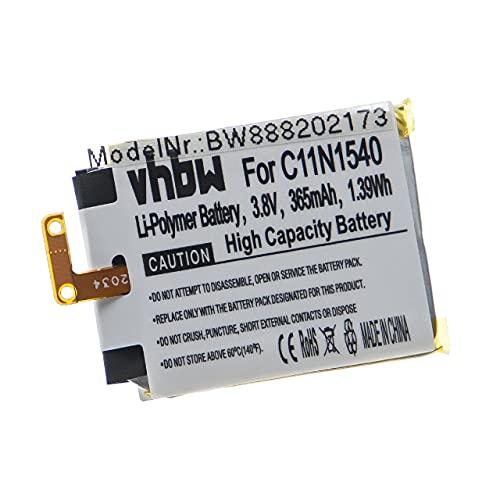 vhbw Batería Recargable Compatible con ASUS ZenWatch 2 WI501Q, 2 WI501QF smartwatch, Reloj de Actividad (365 mAh, 3,8 V, polímero de Litio)