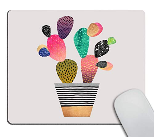 Smooffly Colorful Cactus Mouse Pad Non-Slip Rubber Gaming Mouse Pad Rectangle Mouse Pads for Computers Laptop