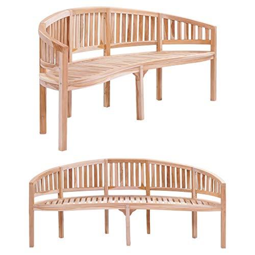 Ghuanton Bananenbank 200 cm massief houten teak meubels tuinmeubelen tuinbank