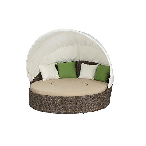 Preisvergleich Produktbild Siena Garden 104786 Lounge-Set Oase,  cappuccino Sitzkissen in beige,  L 155 B 185 x H 53 cm