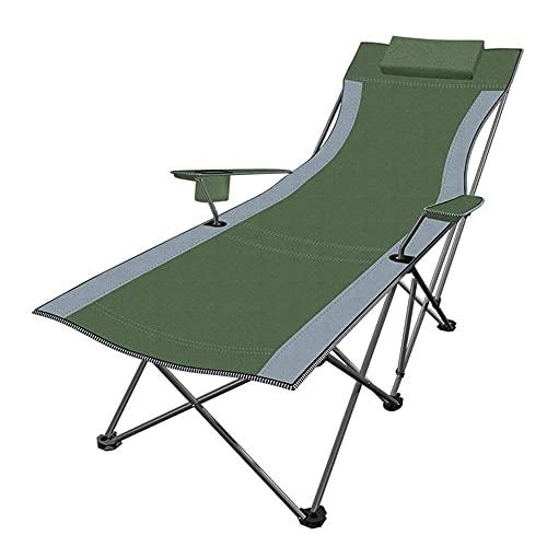 Tedyy Sedie a sdraio da giardino pieghevoli e reclinabili Green Lounge Lounger Arredamento da esterno Lettino per la piscina sulla spiaggia Patio esterno Giardino Campeggio