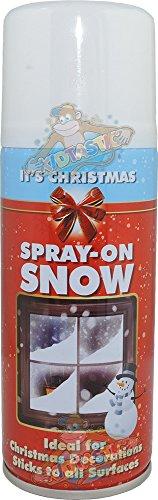 Spray de nieve artificial en espray de Navidad, 200 ml, 200 ml