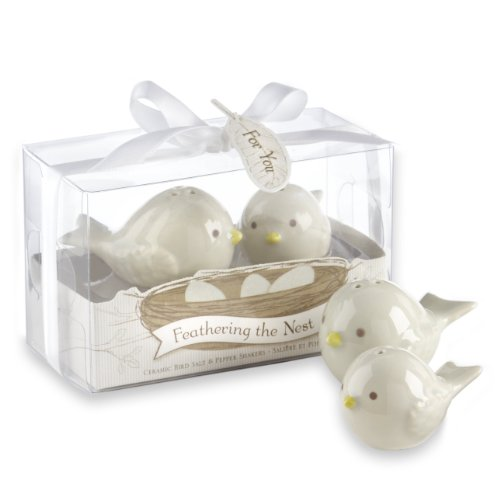 Kate Aspen Feathering The Nest Ceramic Birds Salt and Pepper Shakers