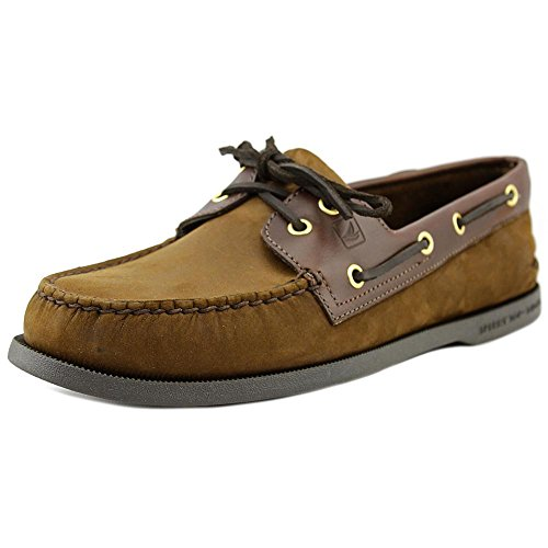 Sperry mens A/O 2-eye Leather Boat Shoe, Brown Buck, 8.5 US