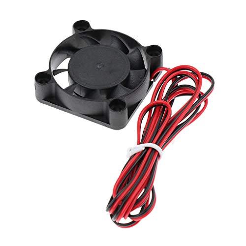 IPOTCH Ventilador de Enfriamiento de CC Sin Escobillas 4010 Ultra Silencioso con Cable de 100 Cm Y 2 Pines para Soldador