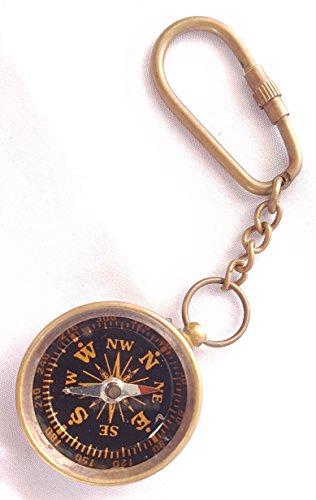 Brass Nautical Keychain Marine Compass Keychain Assorted Key Ring Gift