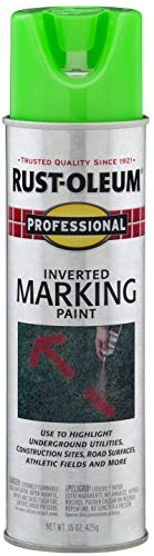 Rust-Oleum 207464 Professional Inverted Marking Spray Paint, 15 oz, Fluorescent Green
