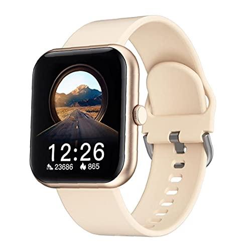 FeelMeet Smart Watch i8 Smart Band Waterproof Big Screen Activity Trackers Watch for Heart Rate Test Fitness Gold