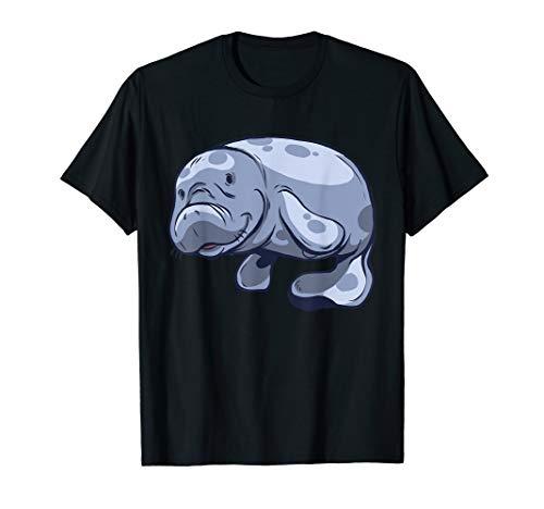 Seekuh Sirenia Seekühe süßes Tier Manati Zeichnung Geschenk T-Shirt