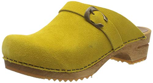 Sanita Damen Hedi Open Clogs, Gelb (Yellow 7), 39 EU