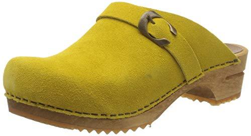 Sanita Damen Hedi Open Clogs, Gelb (Yellow 7), 38 EU