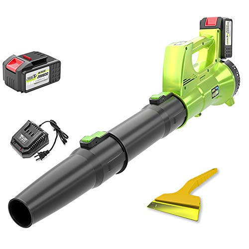 ACXZ Soplador de Hojas de Mano inalámbrico con batería y Cargador, Potente barredora de jardín eléctrica para Nieve/PC/Polvo, batería de Litio Industrial de 21 V