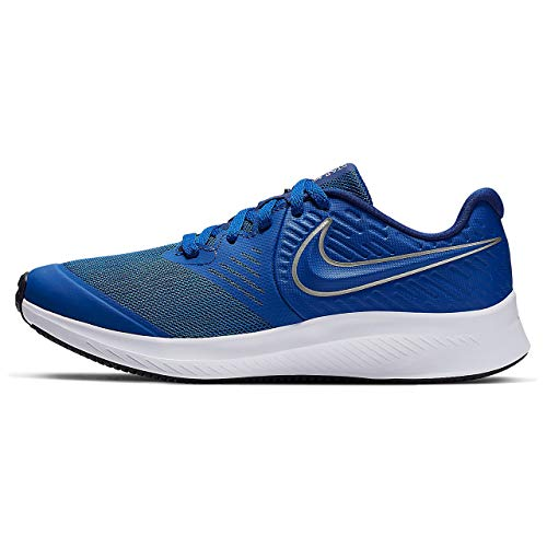Nike Star Runner 2 (GS), Zapatillas Unisex Adulto, Azul (Game Royal/Metallic Silver 400), 39 EU