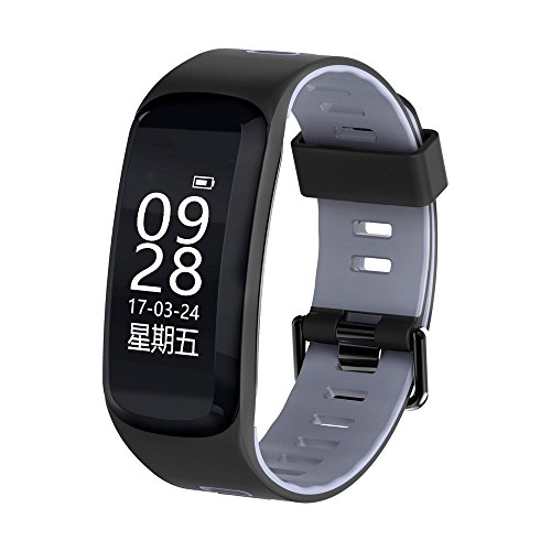 Fantastic Prices! Adhesive Tape Smart Watch F4 Bluetooth 4.0 with Heart-Rate Fitness Tracker Exercis...