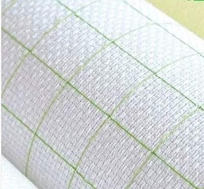 1 1CT 14CT Tissu Aida 25x25cm Blanc avec Grille en Coton Broderie Croix Tissu de Point de Croix DIY Tissu de Couture à Coudre à Coudre 1CT, Taille: 50-50cm (Color : 11ct, Size : 5050cm)