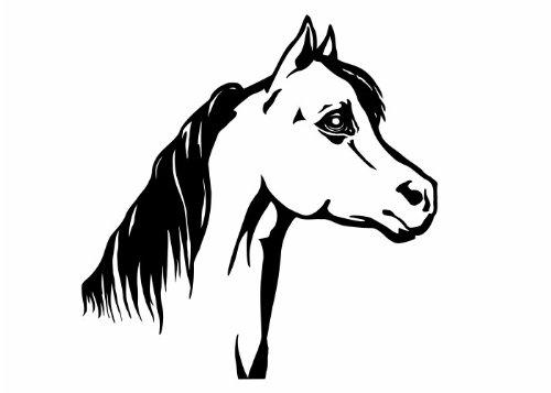 Wandtattooladen Wandtattoo - Pferdekopf Größe:78x80cm Farbe: Schablone