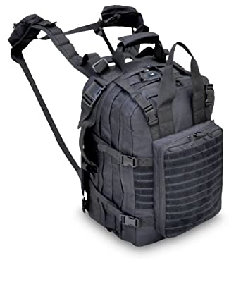 Explorer M2 Everyday Deluxe Carry Huge Military Corpsman Medic Hospital Tactical Backpack, Black, 20 x 13 x 6-Inch