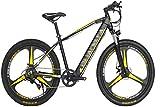 Leifeng Tower Alta Velocidad Bicicletas eléctricas 27,5 Pulgadas, Bicicleta de montaña 48V10A Aumento de Velocidad Variable de Bicicletas Hombres Mujeres (Color : Yellow)